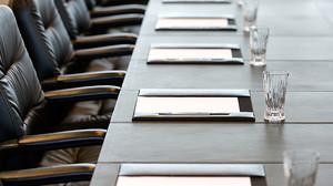 board room meeting set up