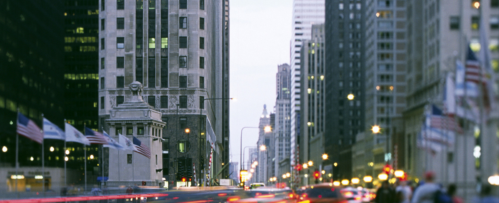 City streets with lights for Business Wealth Services