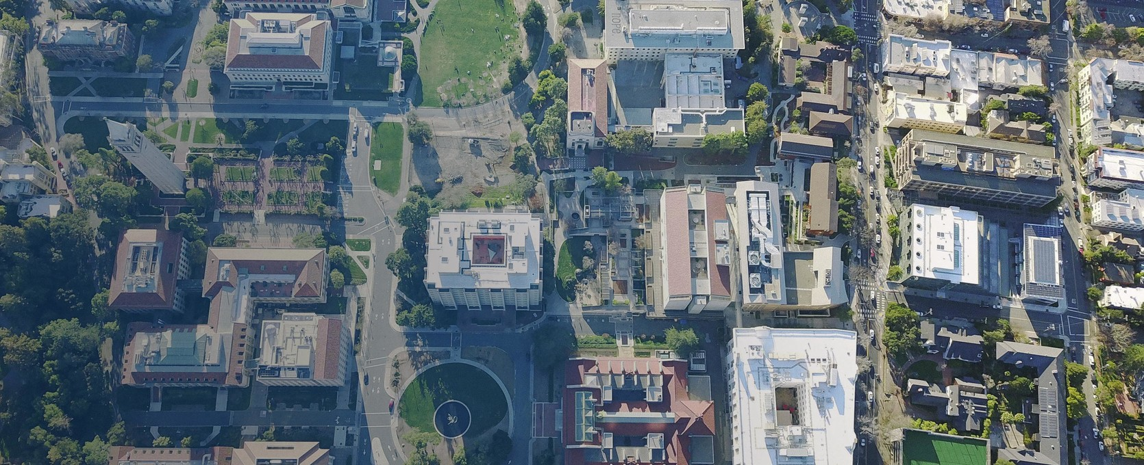 Aerial view of a community