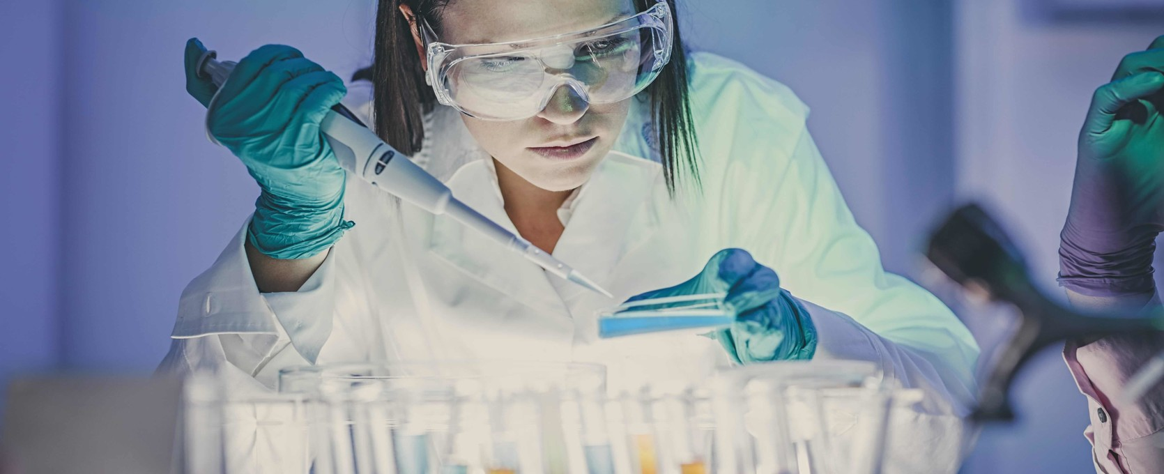 Scientist experimenting in the life sciences industry