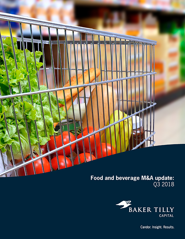 Food and beverage M&A update: Q3 2018 - Baker Tilly